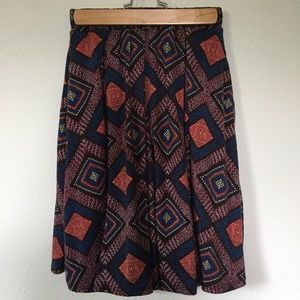 LuLaRoe Madison Skirt, Gorgeous Tribal Pattern, XS